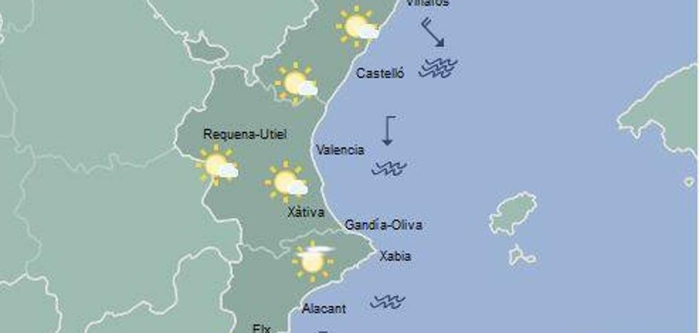 El tiempo en Valencia, Alicante y Castellón | Previsión de viento y calor durante el día de hoy en la Comunitat Valenciana