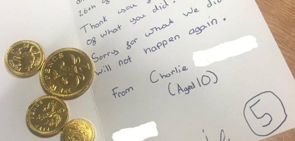 La entrañable nota de disculpa de unos niños a unos policías que ha dado la vuelta al mundo