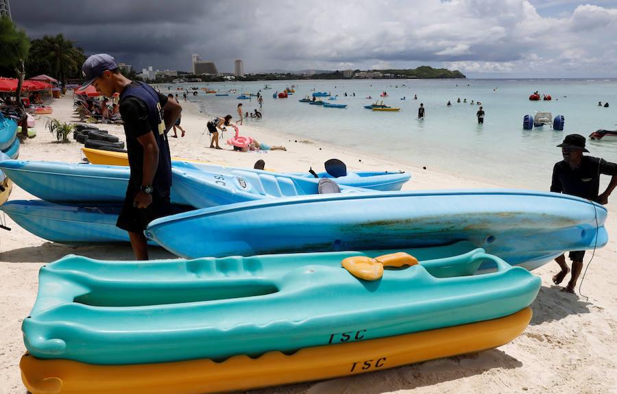 Fotos de la playa Tumon en la isla de Guam