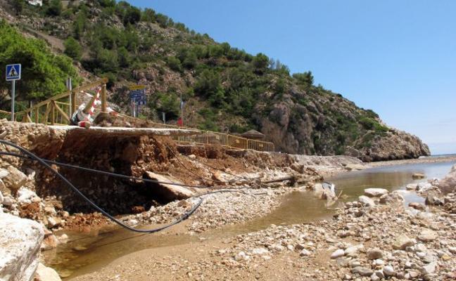 Xàbia reparará de urgencia la playa de la Granadella tras los destrozos por las lluvias