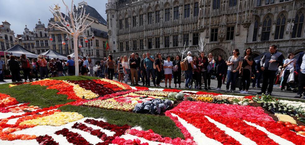 Un jardín floral germina en el centro de Bruselas