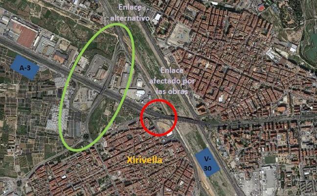 El paso inferior de Xirivella causará seis meses de cortes