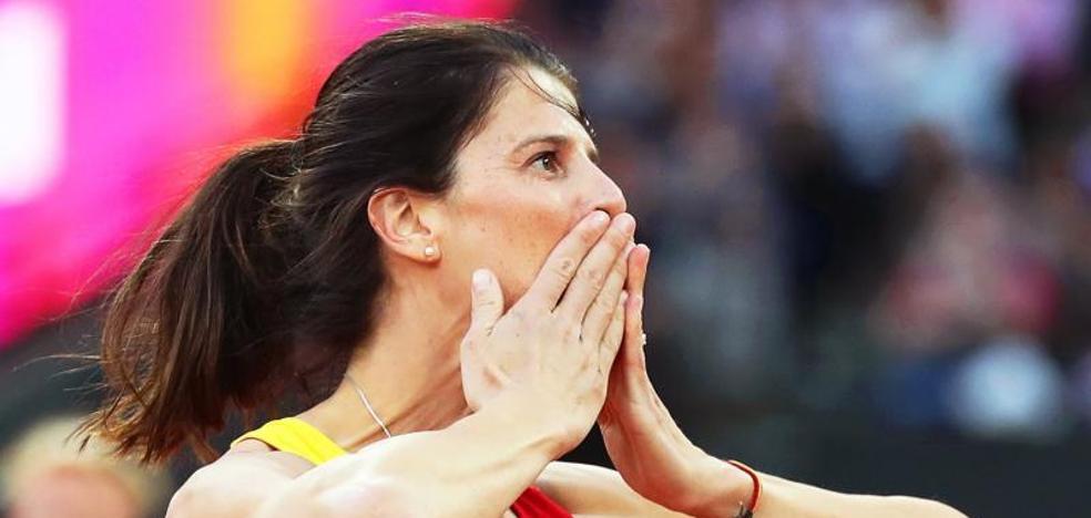 Ruth Beitia, «triste, pero contenta» tras su último campeonato universal