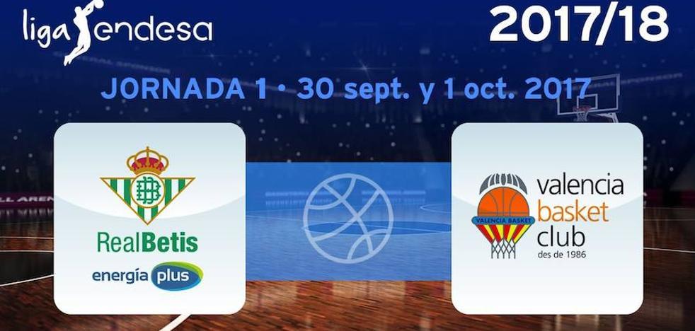 El Valencia Basket visitará al Real Betis EPlus en la primera jornada de la Liga Endesa