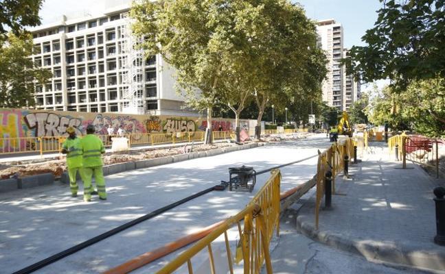 Obras para el futuro hotel de la avenida Aragón