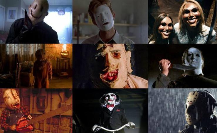 Fotos de las máscaras más importantes del cine de terror