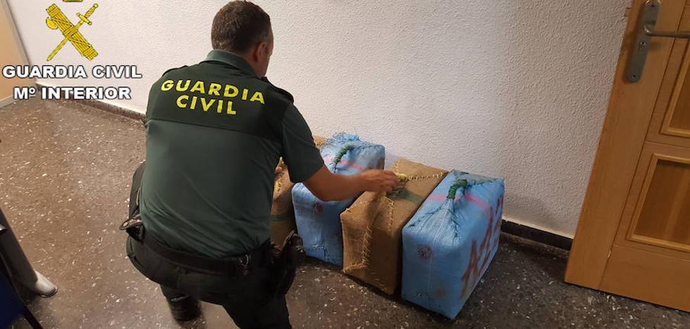 Incautados 150 kilos de hachís en el término municipal de Sagunto