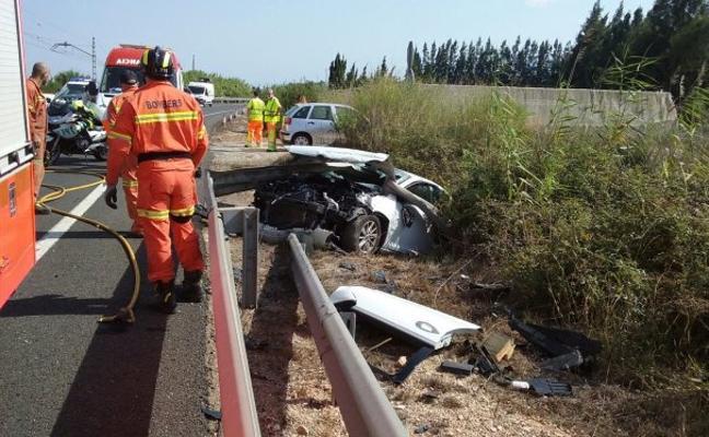 Un nuevo accidente en la N-332 en Cullera deja un muerto y dos heridos