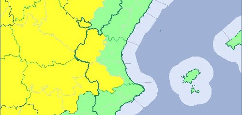 El tiempo en Valencia, Alicante y Castellón | Activan el aviso amarillo en el interior de Valencia por altas temperaturas