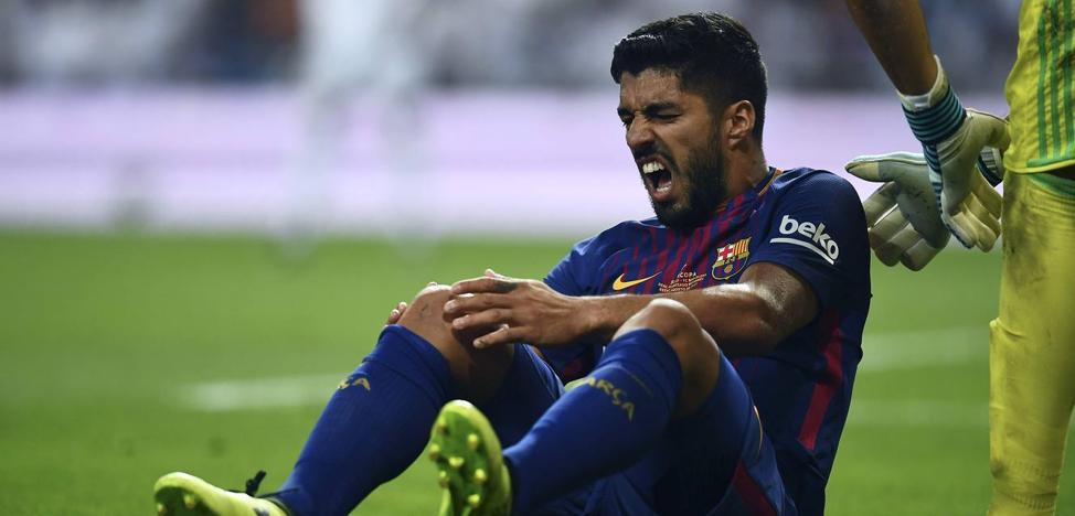Luis Suárez, un mes de baja