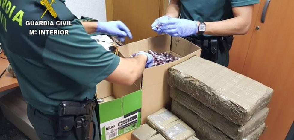 Intervenidos 60 kilos de hachís en el término municipal de Sagunto