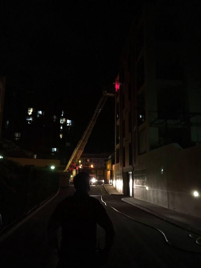 Incendio en un apartamento de Dénia