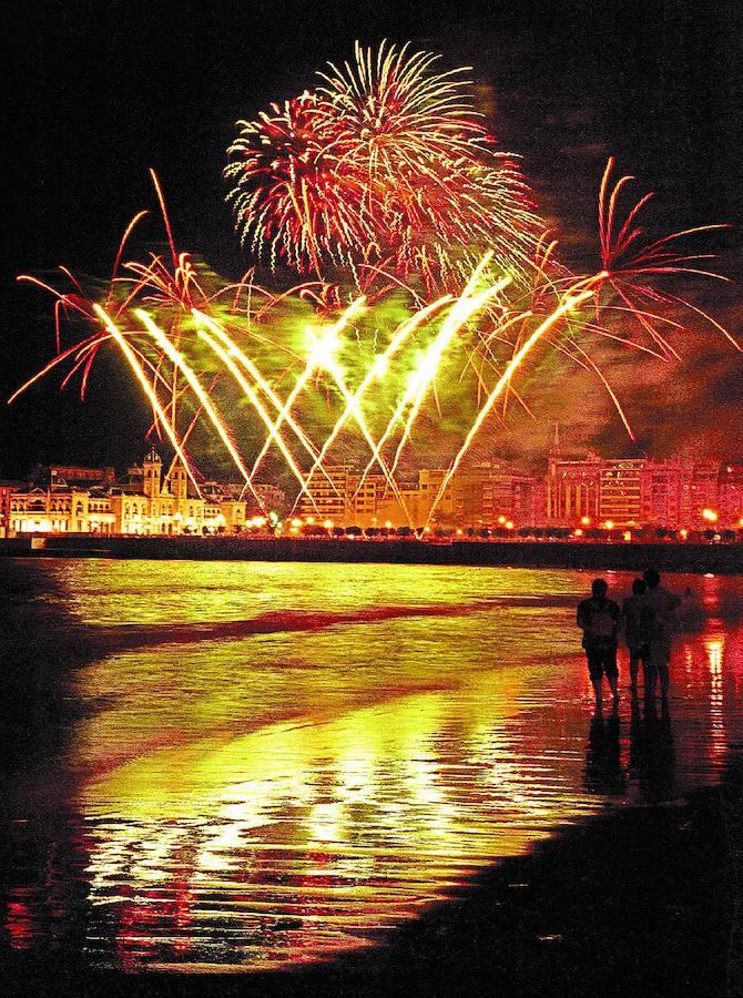 Hermanos Caballer logra la 'Concha de Oro' del Concurso de Fuegos de Donostia