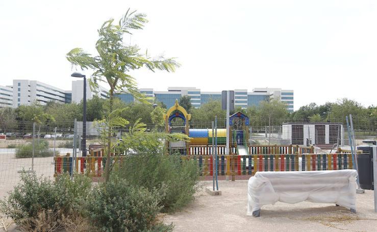 Fotos del parque bloqueado de Malilla