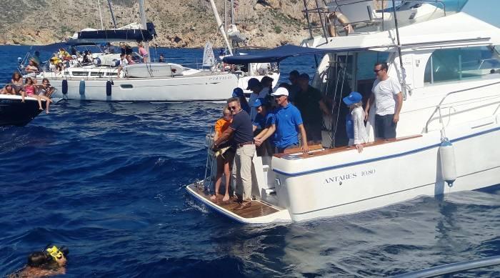 Fotos de la vuelta al mar de Chiquiti en Xàbia