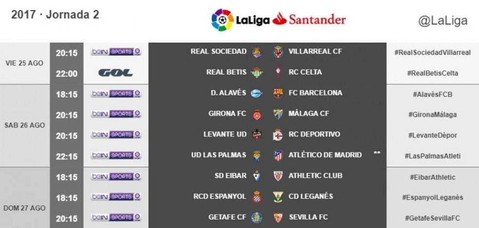 Directo | Real Betis vs. RC Celta. Horario y televisión. Jornada 2 Liga Santander. Ver online