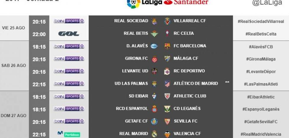 Directo | Alavés vs. FC Barcelona. Horario y televisión. Jornada 2 Liga Santander. Ver online