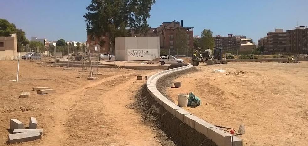 Las obras del parque lineal de Benimàmet concluirán a principios de 2018