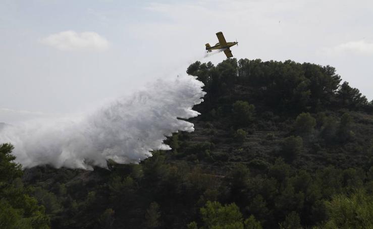 Fotos del incendio en Xàbia