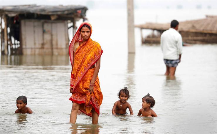 Fotos de las inundaciones en Motihari (India)