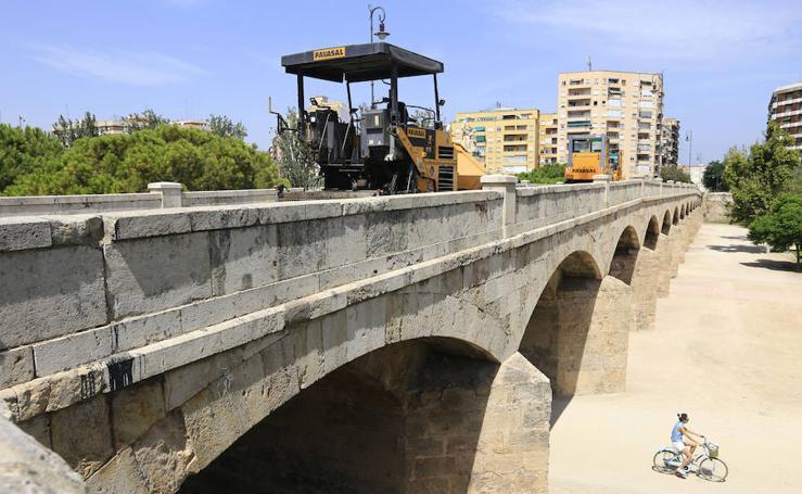 Fotos de las obras del puente de San José