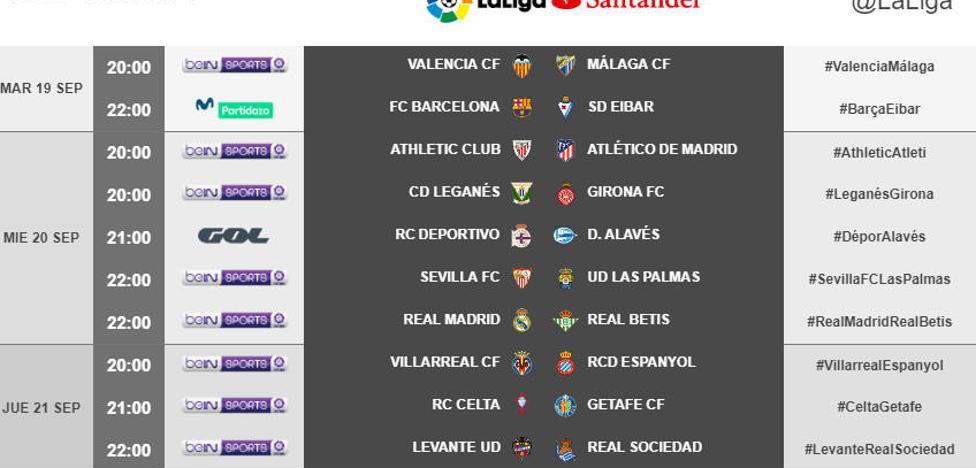 Valencia CF y Levante UD ya conocen sus horarios para las jornadas 5 y 6