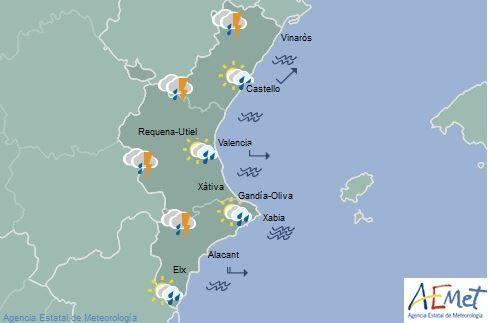 El tiempo en Valencia, Alicante y Castellón | ¿Dónde lloverá hoy en la Comunitat Valenciana?
