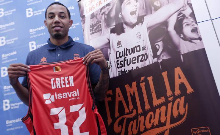 Fotos de la presentación de Eric Green en el Valencia Basket