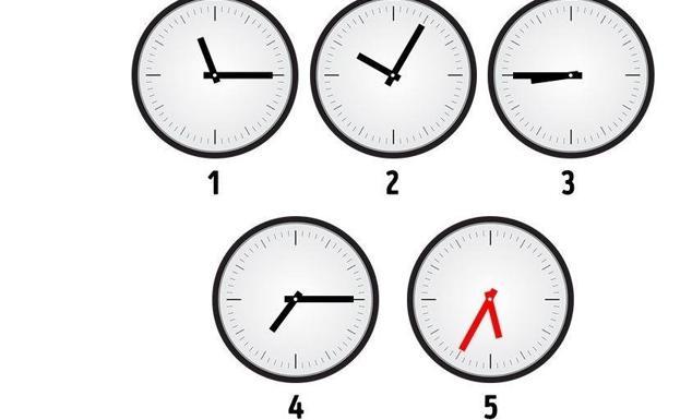 Soluci n qu hora debe mostrar el reloj n mero 5 las for Cuanto es un cuarto de hora