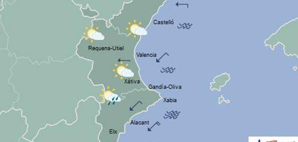 El tiempo en Valencia, Alicante y Castellón | ¿Dónde bajarán las temperaturas y lloverá hoy?