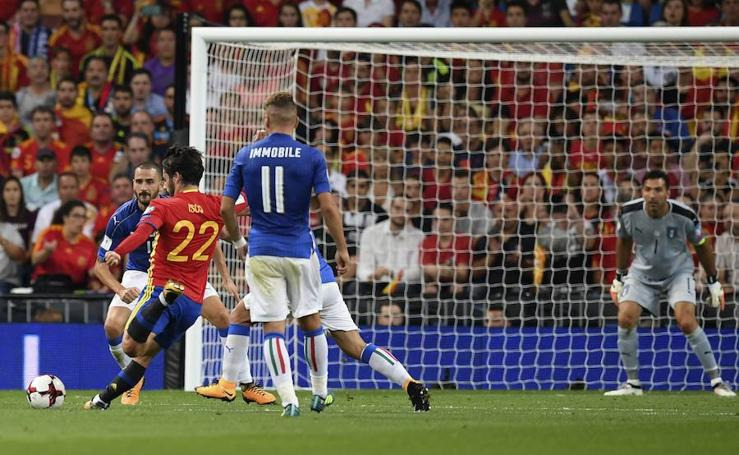 España - Italia, en imágenes
