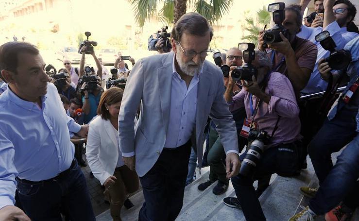 Fotos de Mariano Rajoy en la clausura la reunión interparlamentaria del PP en Alboraya