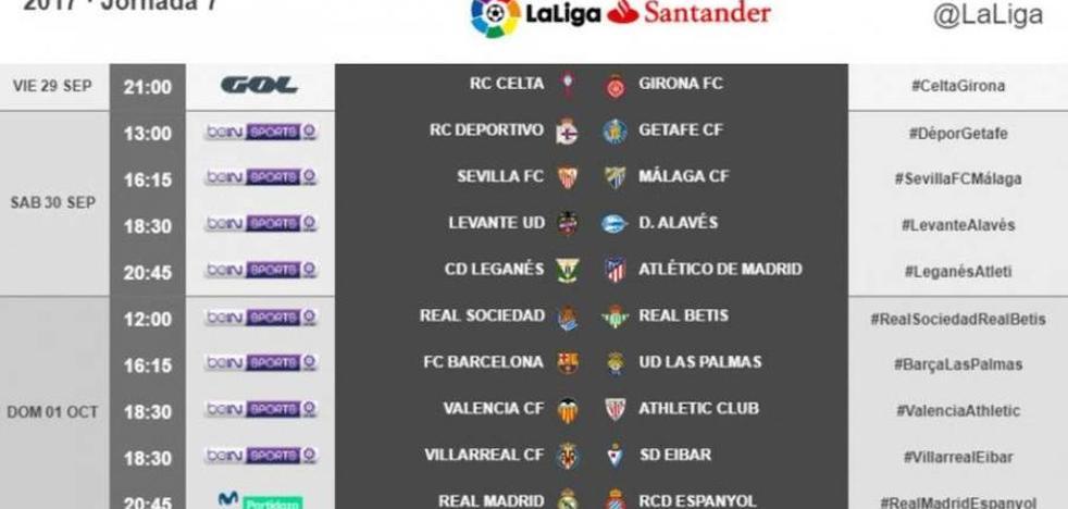 Ya se conocen los horarios la séptima jornada de LaLiga para el Valencia C.F y el Levante U.D