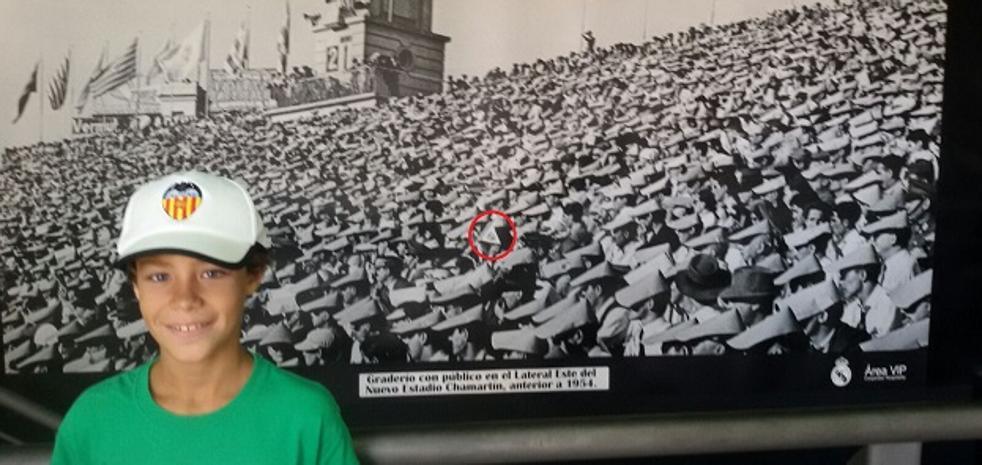 Rober y la foto del Bernabéu