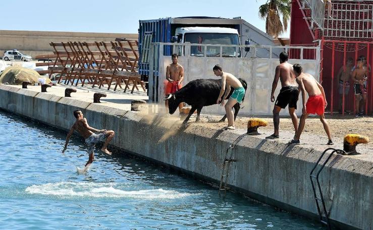 Fotos del último día de bous a la mar de Xàbia