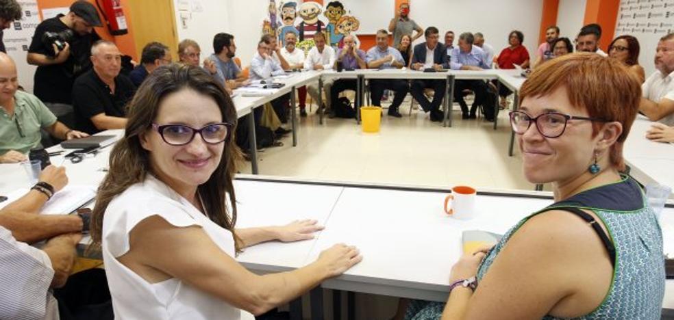 Compromís aplaza el debate del pacto electoral con Podemos al constatar diferencias internas