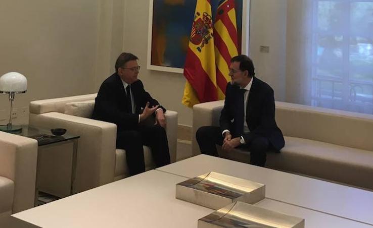 Fotos de la reunión entre Mariano Rajoy y Ximo Puig