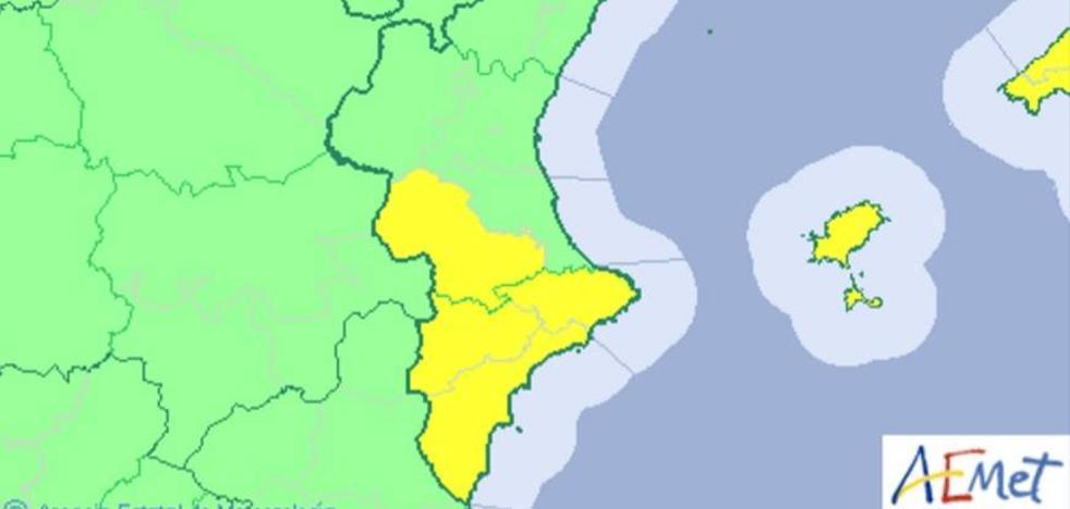 El tiempo en la Comunitat Valenciana   Alerta amarilla por tormentas en Valencia y Alicante