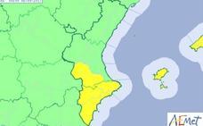 El tiempo en la Comunitat Valenciana | Alerta amarilla por tormentas en Valencia y Alicante