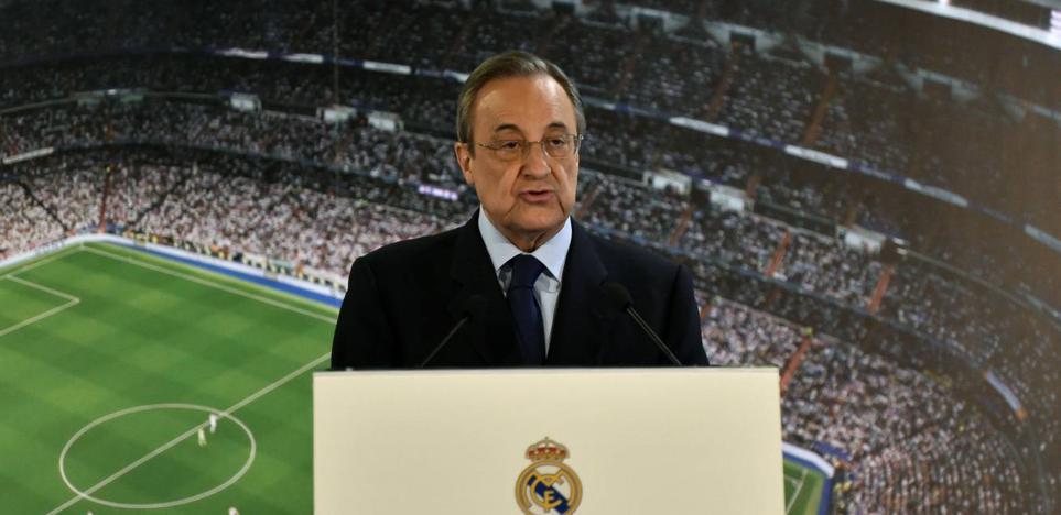 Florentino Pérez: «El estamento arbitral es claramente mejorable»