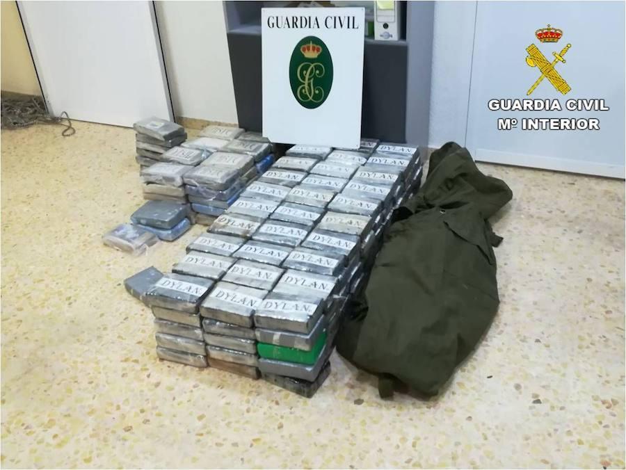 Fotos de la incautación de 226 kilos de cocaína en Altea