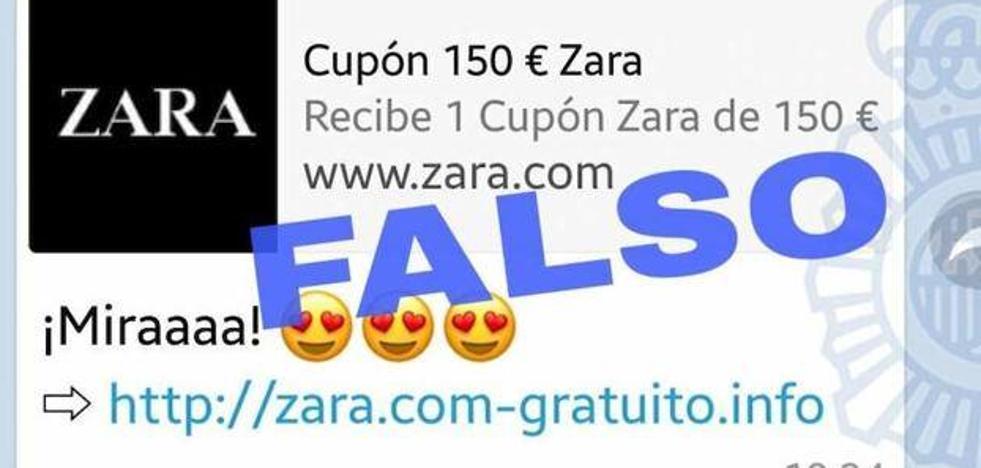 El último bulo que circula por Whatsapp: el falso cupón de 150 euros de Zara