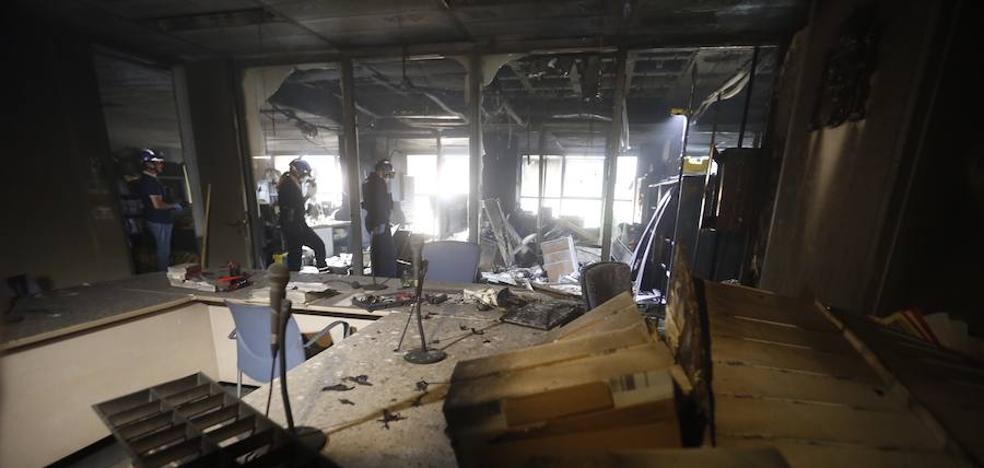 Suspenden 'sine die' la actividad en la Ciudad de la Justicia de Valencia por el incendio