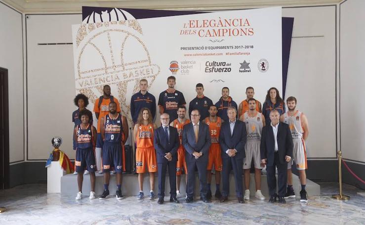 Fotos de la presentación de la equipación del Valencia Basket para la temporada 2017/18