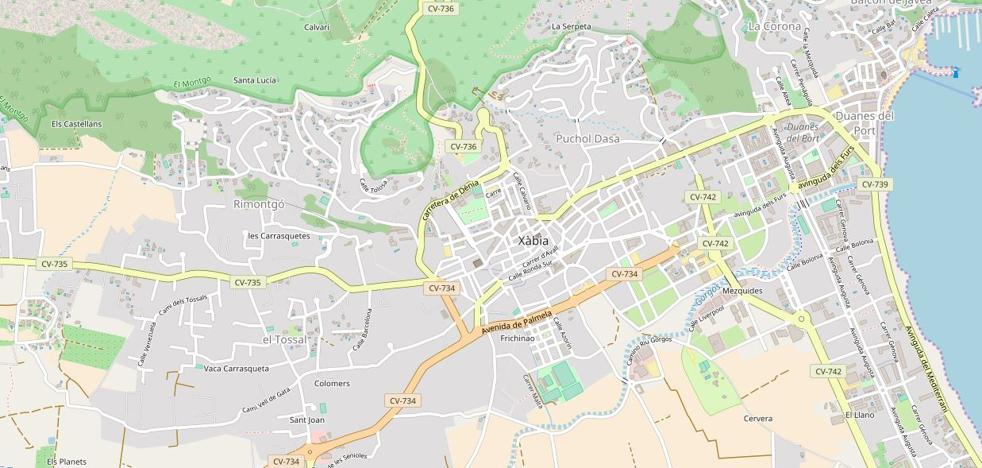 Un ciclista resulta herido leve en Xàbia al caer de su bicicleta de montaña en el camí Tarraula