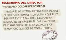 Telegrama para María Dolores de Cospedal