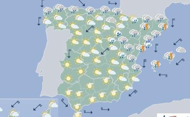 Previsión del tiempo | El viernes, día de tormentas y bajada de 10º en Valencia