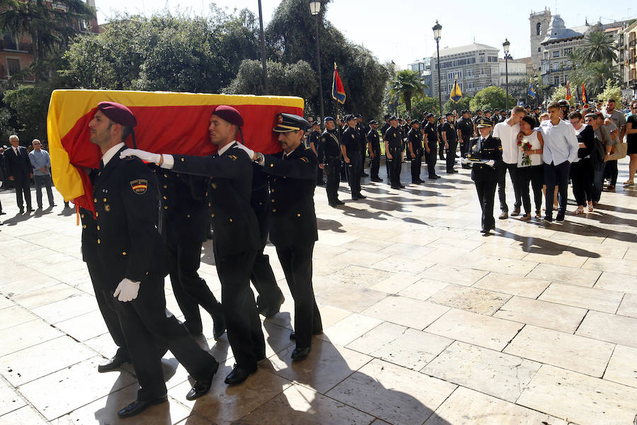 Fotos del funeral de Blas Gámez, el policía asesinado en Valencia