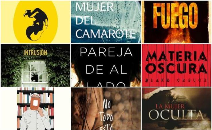 Fotos de las portadas de los libros de suspense para leer en otoño