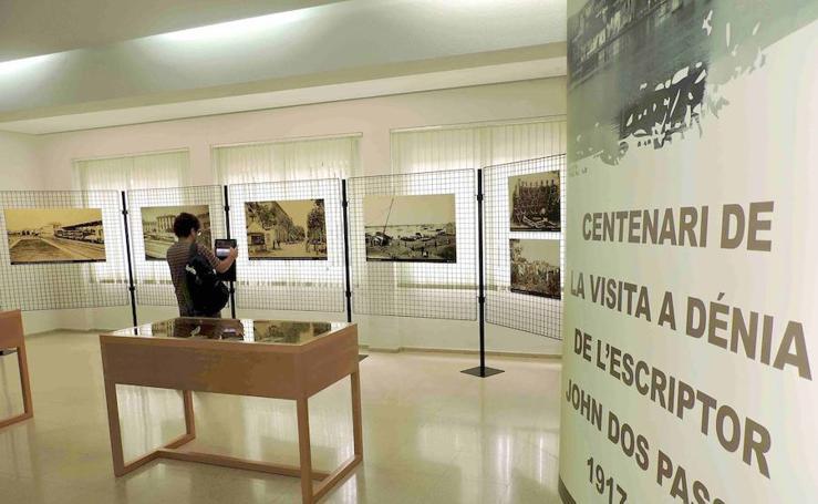 Fotos de la exposición de Dénia sobre el escritor John Dos Passos
